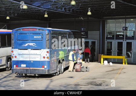 Greyhound bus station in downtown Fresno CA Stock Photo