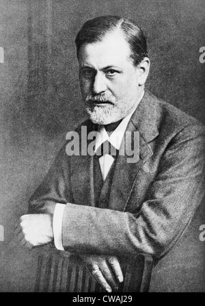 Sigmund Freud (1856-1939), at age 45 in 1909, the year he traveled to the United States to lecture.  The following - Stock Photo
