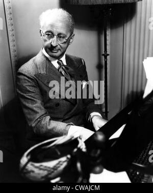 Jerome Kern (1885-1945), American composer and songwriter, October 23, 1941.. Courtesy: CSU Archives / Everett Collection - Stock Photo