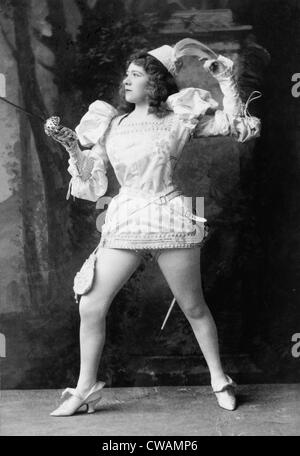 Marie Tempest (1864-1942) English actress, in the play, THE FENCING MASTER, 1892. In her long career, she performed - Stock Photo