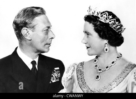 King George VI and Queen Elizabeth (later Queen Mother) on their 25th anniversary, 1948. Courtesy: CSU Archives / Everett