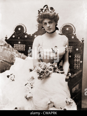 Ethel Barrymore (1879-1959), already an experienced actress at age 22, in 1901. Photo by Burr McIntosh (1862-1942). - Stock Photo