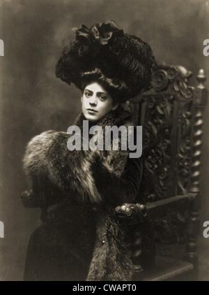 Ethel Barrymore (1879-1959), in a 1901 studio portrait by Burr McIntosh. - Stock Photo