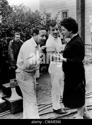 THE FUGITIVE KIND, foreground: screenwriter Tennessee Williams, Maureen Stapleton, on set, 1959.. Courtesy: CSU - Stock Photo