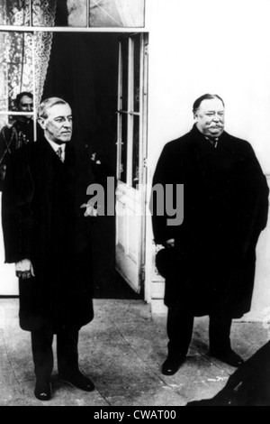 WOODROW WILSON and WILLIAM HOWARD TAFT. Courtesy: CSU Archives / Everett Collection - Stock Photo