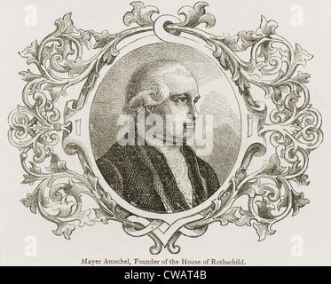 Meyer Amschel Rothschild (1744-1812), founder of the international banking family. Ca. 1790. - Stock Photo