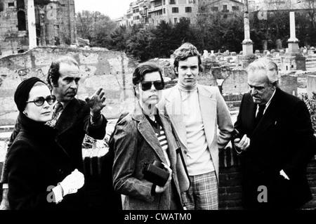 Princess Grace Kelly, Princess Caroline, Prince Albert, Prince Rainier in Rome, 1974. Courtesy: CSU Archives / Everett - Stock Photo