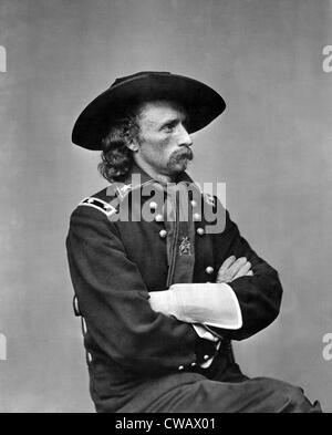 George Armstrong Custer, U.S. Army major general, ca. 1863 - Stock Photo