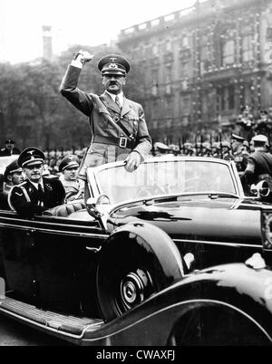 EV1947 - Adolph Hitler acknowledges cheers of the crowd as  he left the Berlin Lustgarten, May 8, 1939. Courtesy: - Stock Photo