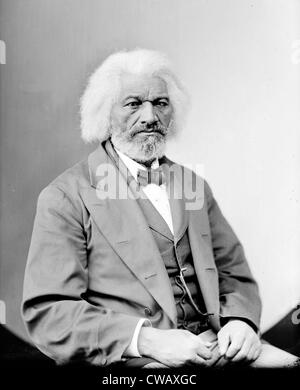 Frederick Douglass (1818-1895), African Americam abolitionist, writer and statesman, circa 1870s. - Stock Photo