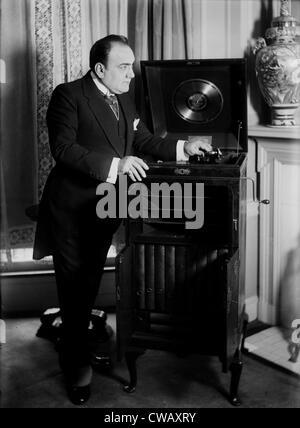 Enrico Caruso (1873-1921), Italian Opera singer, circa 1910s. - Stock Photo