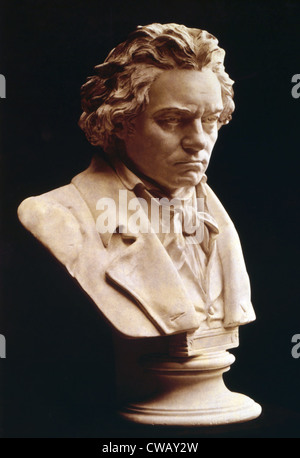 Ludwig van Beethoven (1770-1827), German classical composer, circa 1810s. - Stock Photo