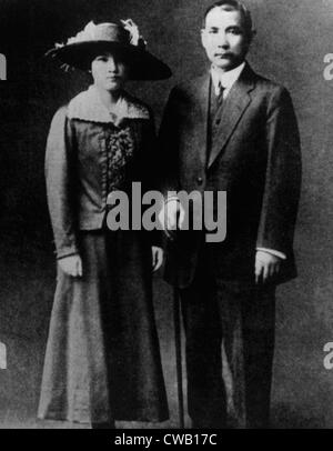 Chiang Kai-shek (1887-1975) with his wife Soong Mai-ling, ca. 1927 - Stock Photo