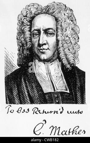 Cotton Mather (1663-1728) - Stock Photo