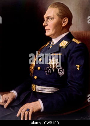Hermann Goering, (1893-1946), German politician and military leader and leading member of the Nazi Party. 1934 painting - Stock Photo