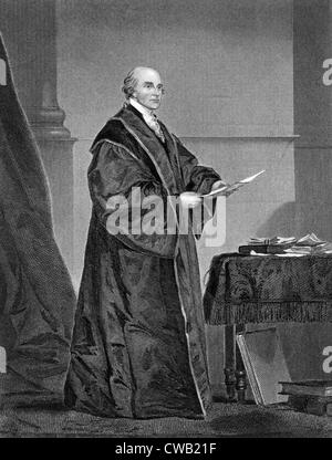 John Jay (1745-1829), first U.S. Supreme Court Chief Justice (1789-1795), engraving 1858 - Stock Photo