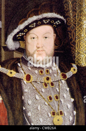King Henry VIII (1491-1547), King of England, and Ireland, from 1509 until his death. - Stock Photo