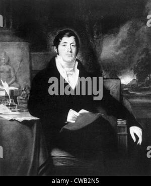 Sir Thomas Stamford Raffles (1781-1826), British East Indian administrator, painting by George Francis Joseph, from - Stock Photo