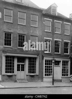 Apothecary Shop, founded ca. 1795. Alexandria, Virginia. - Stock Photo