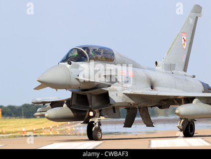 Eurofighter Typhoon FGR4 29 (R) Sqn at RAF Coningsby - Stock Photo