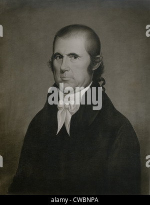 John Marshall (1755-1835), the Chief Justice of the U.S. Portrait by Cephas Thompson (1775-1856), a self taught - Stock Photo