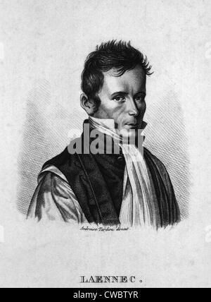 Rene Laennec (1781-1826), French physician and inventor of the stethoscope. He developed methods of medical diagnosis - Stock Photo