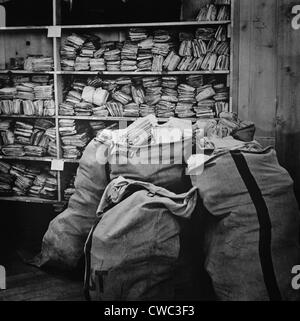 Mail piled up at the International Red Cross central information bureau for prisoners of war. Nov. 1940. (BSLOC - Stock Photo