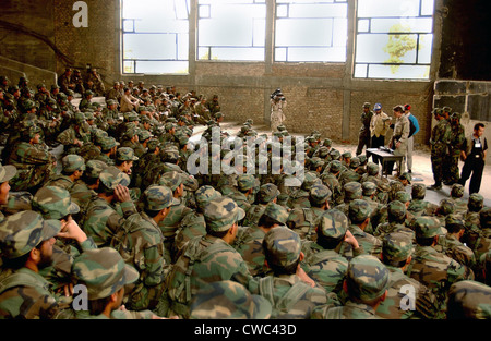 New recruits of the Afghanistan National Army learn the fundamentals of the Rocket Propelled Grenade Launcher in - Stock Photo