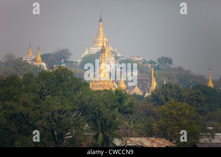 Sagaing Hill in Sagaing Myanmar - Stock Photo