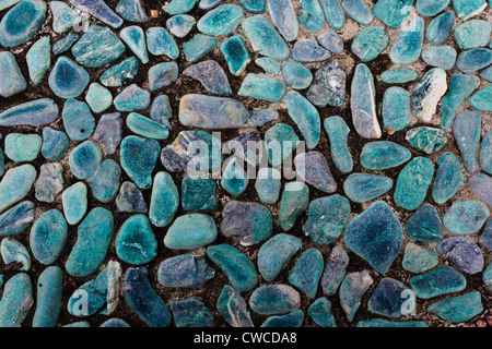 Aqua Floor of the Small Rocks. - Stock Photo