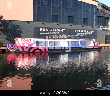 Water Chariot or water taxi for use in the 2012 Olympic games seen here on the River Lea - Stock Photo