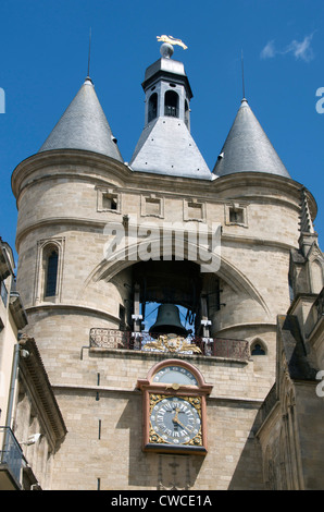 Bell tower, the Grosse Cloche, Bordeaux, Gironde, France, Europe - Stock Photo