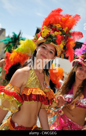 Members of the International Samba-Festival Coburg, Bavaria, Germany - Stock Photo