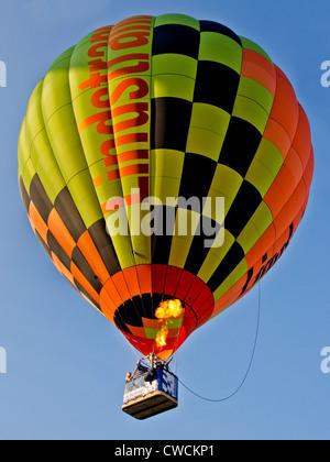 Hot air balloon airborne at Bristol international balloon fiesta