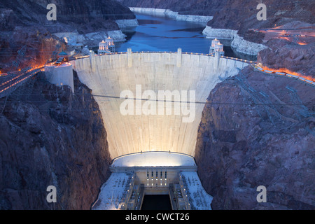 Hoover Dam, Lake Mead National Recreation Area, near Las Vegas, Nevada. - Stock Photo
