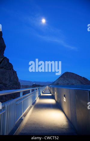 Mike O'Callaghan-Pat Tillman Memorial Bridge, Hoover Dam, Nevada - Stock Photo