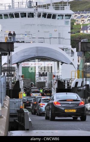 Open bow door of Mallaig ferry. MV Coruisk. - Stock Photo