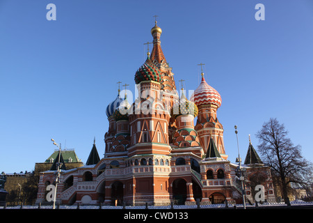 Saint Basil's Cathedral or Trinity Cathedral. Red Square Moscow. Russia - Stock Photo