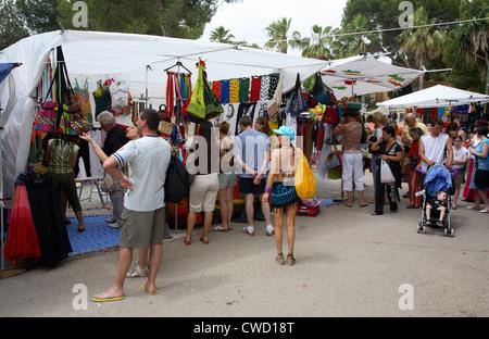 Ibiza Hippie Market at Es Canyar, Punta Arabi - Stock Photo