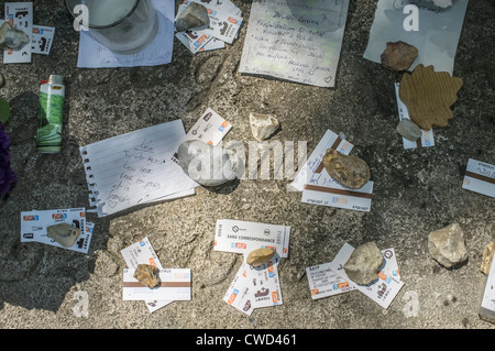 paris,france.cemetery montparnasse,serge gainsbourg tomb. - Stock Photo