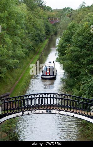 The Oxford Canal near Fenny Compton, Warwickshire, UK - Stock Photo