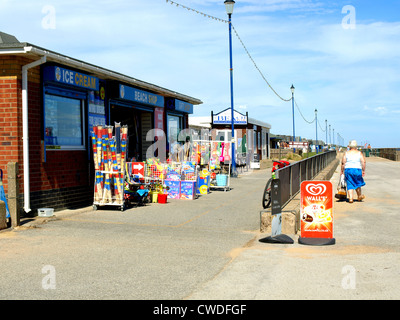 Beach shop on the promenade at Sutton-on-Sea, Lincolnshire, England, UK. - Stock Photo
