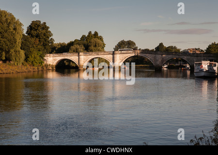 Richmond Bridge on The River Thames,UK - Stock Photo