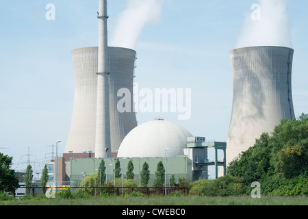 Grafenrheinfeld nuclear power station in Germany - Stock Photo