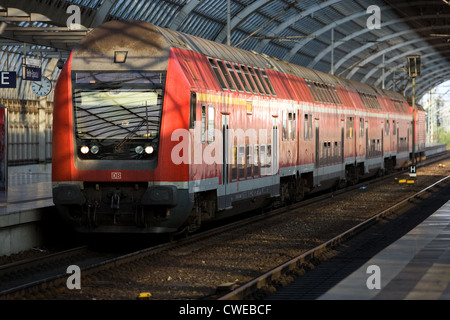 Berlin, a regional train (RB) in Spandau - Stock Photo