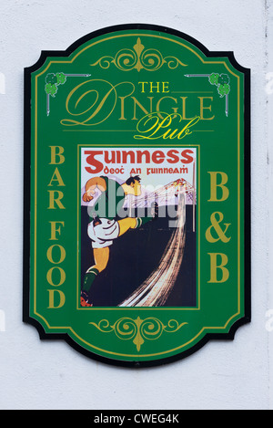 Artwork on Local pub wall in Dingle town, Dingle Peninsula, County Kerry, Republic of Ireland. - Stock Photo