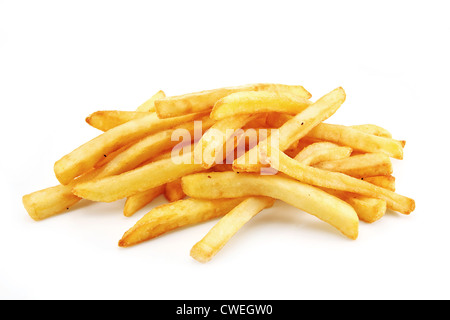 French Fries or Chips originally called pommes frites and more recently named freedom fries in america - Stock Photo