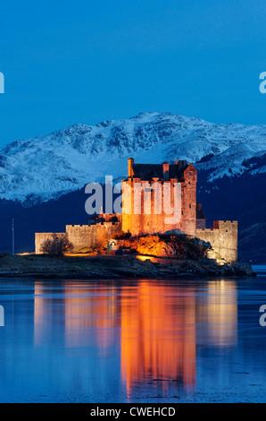 Eilean Donan Castle, Highland, Scotland, UK - Stock Photo