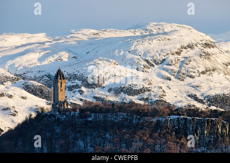 The National Wallace Monument on Abbey Craig, Stirling, Scotland, UK. - Stock Photo
