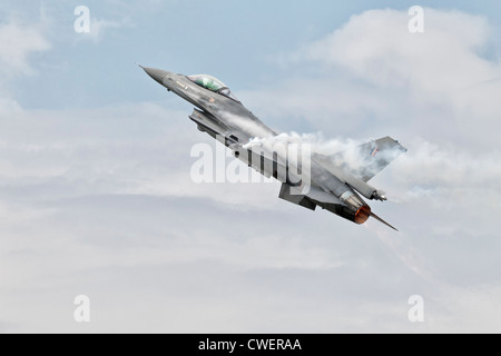 General Dynamics F16 Fighting Falcon of the Belgian air force - Stock Photo